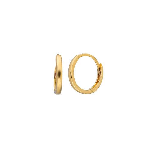 Gold Hoop Earrings 1 cm