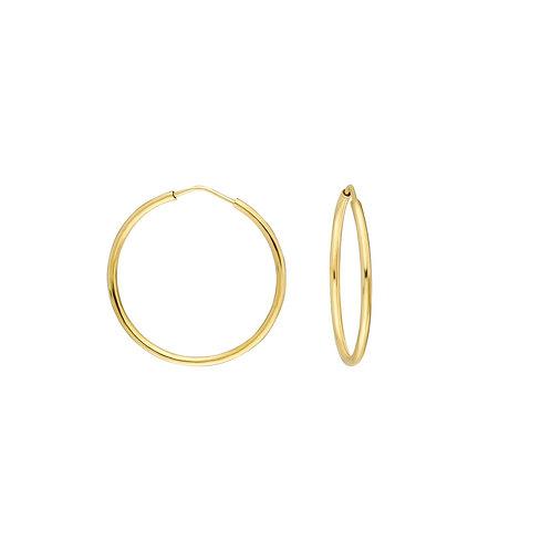 Gold Hoop Earrings 2.5 cm