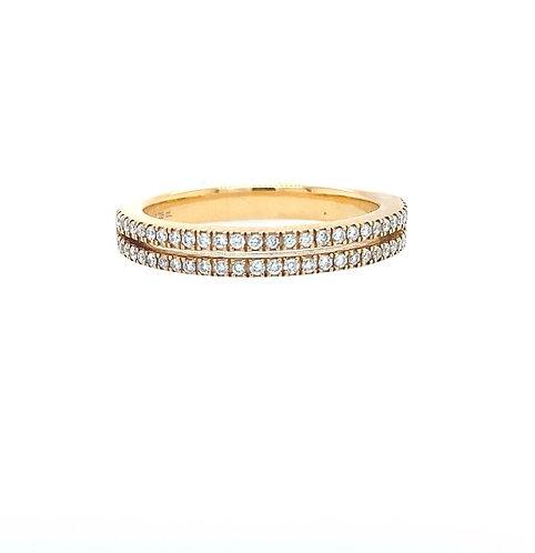 Double Half Memoire  Ring