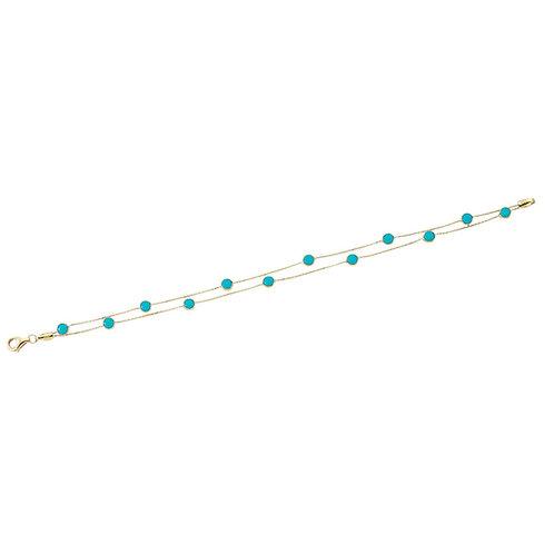 Gold Armband Turquoise Doppel