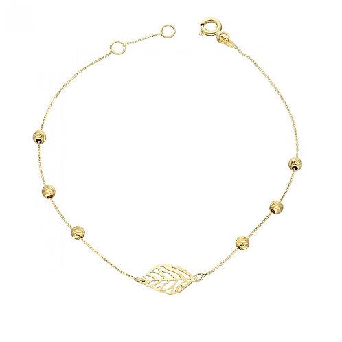 Gold Bracelet Dorika Leaf