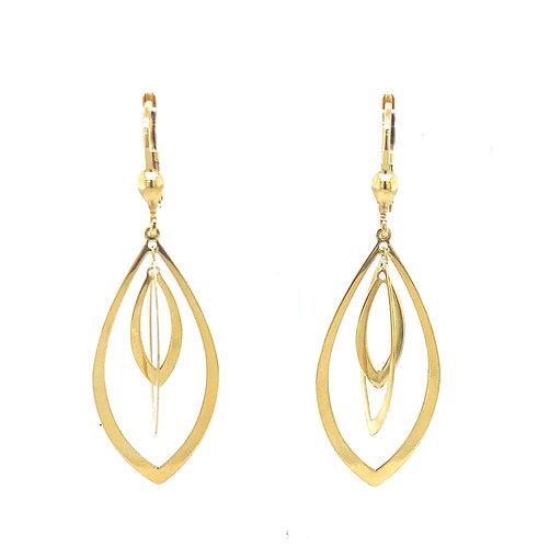 Gold Twist Ohrringe