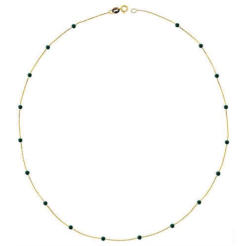 Jade Gold Halskette