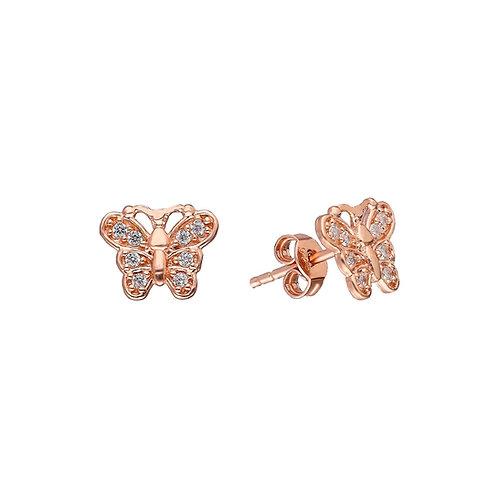 Silber Butterfly Ohrstecker