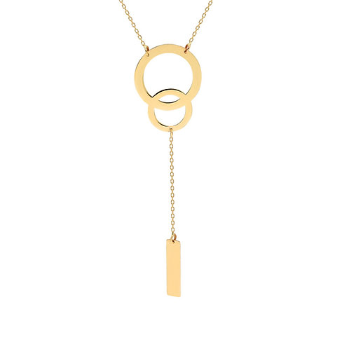 Gold Double Circle Halskette