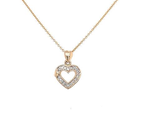 Roségold Heart Halskette