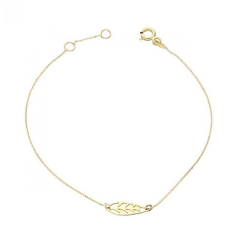 Gold Bracelet Leaf