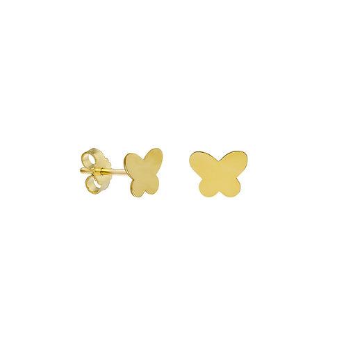 Gold Butterfly Ohrstecker