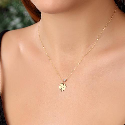 Gold Clover Halskette