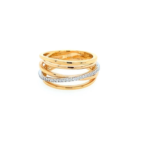 Roségold Lines Ring