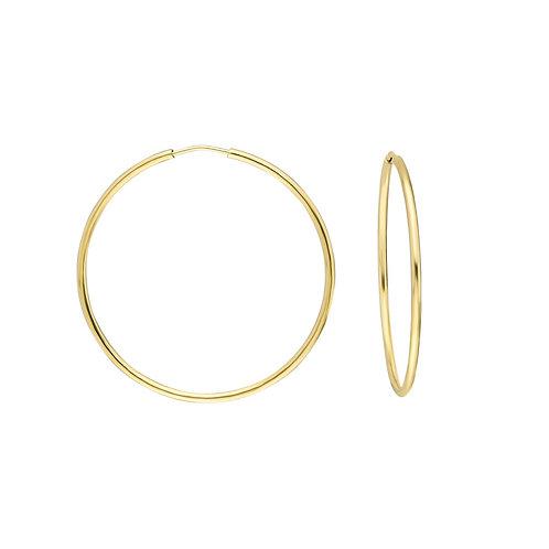 Gold Creolen 3,5 cm