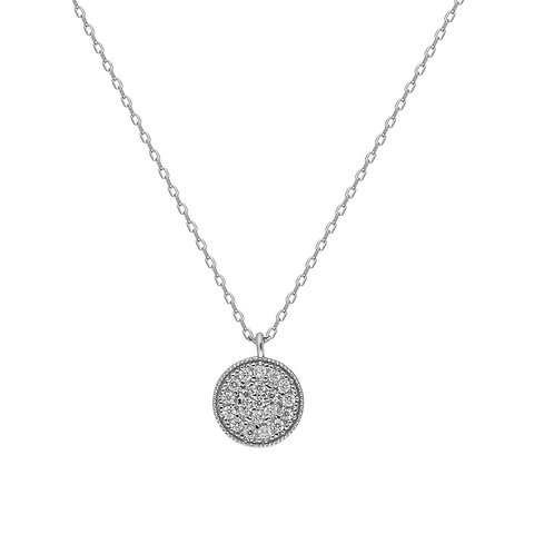 Silber Round Silver Necklace