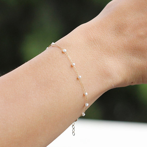 Gold Armband Pearl