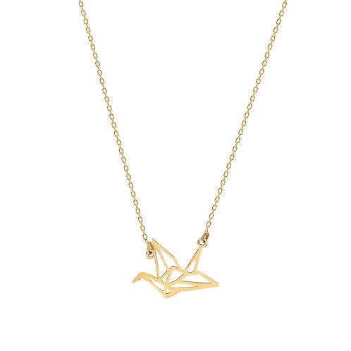 Gold Pigeon Necklace