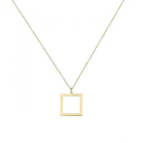Gold Square Halskette