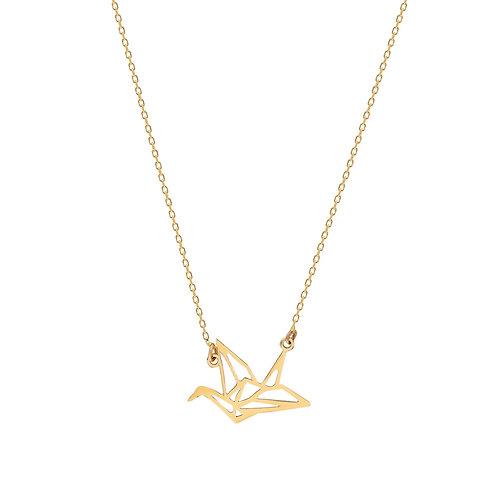Gold Pigeon Halskette