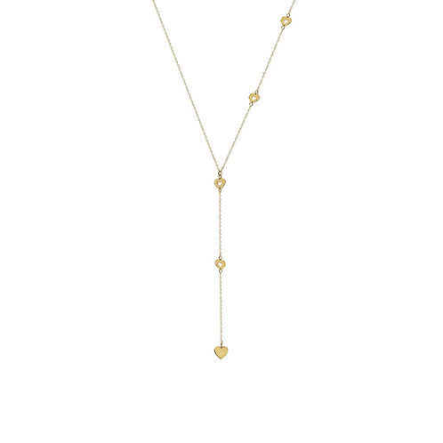 Gold Heart Y Halskette