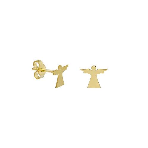 Gold Angel Stud Earrings