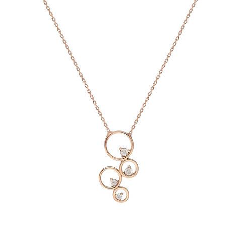 Silber Circles  Halskette