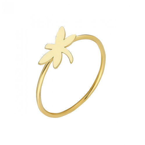 Ring Gold Dragonfly