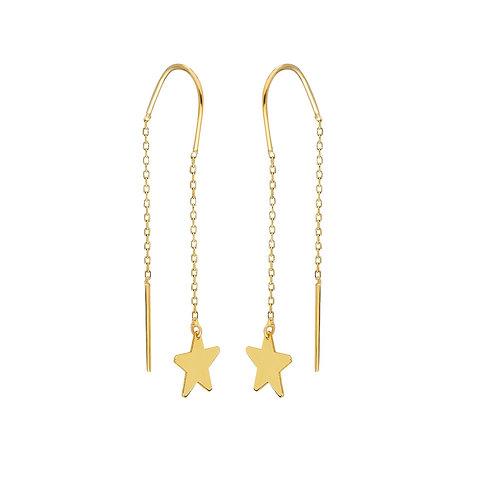 Gold Star Ohrringe