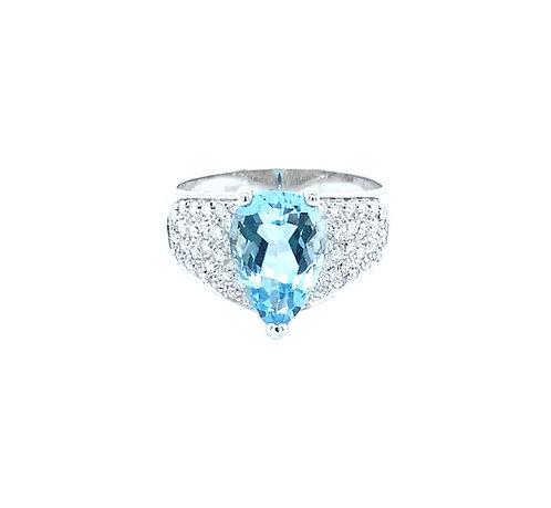 Aquamarin Drop Ring