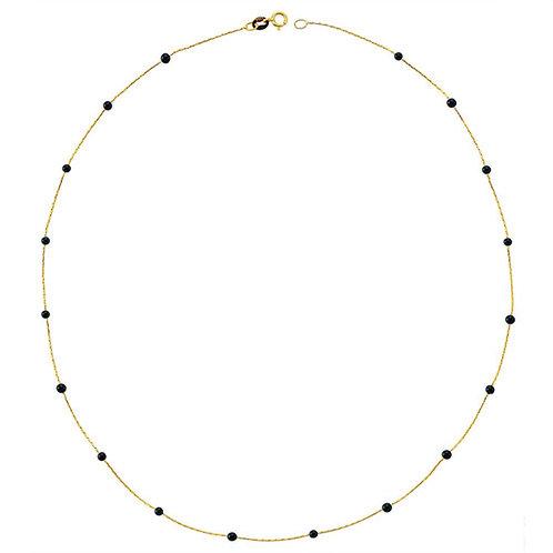 Gold Onyx Pave Necklace