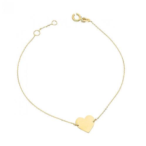 Gold Bracelet Heart