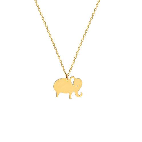 Gold Elephant Halskette