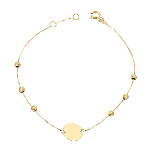 Gold Bracelet Dorika Plate