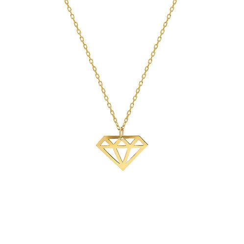 Gold Diamond Cut Necklace