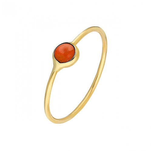 Ring Gold Red Pave