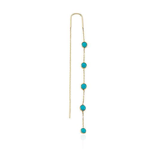 Gold Türkis Earrings