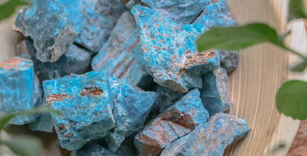 Apatite Azul Bruto 3 a 6 cm