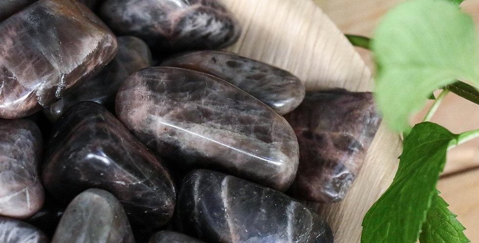 Pedra da Lua Negra Rolada 2 a 3 cm