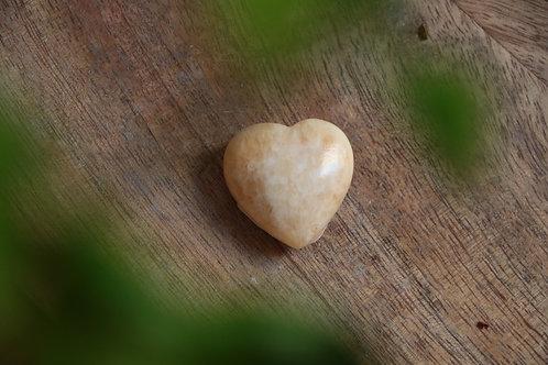 Coração de Calcite Amarela