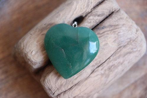 Pingente  Coração Aventurina Verde