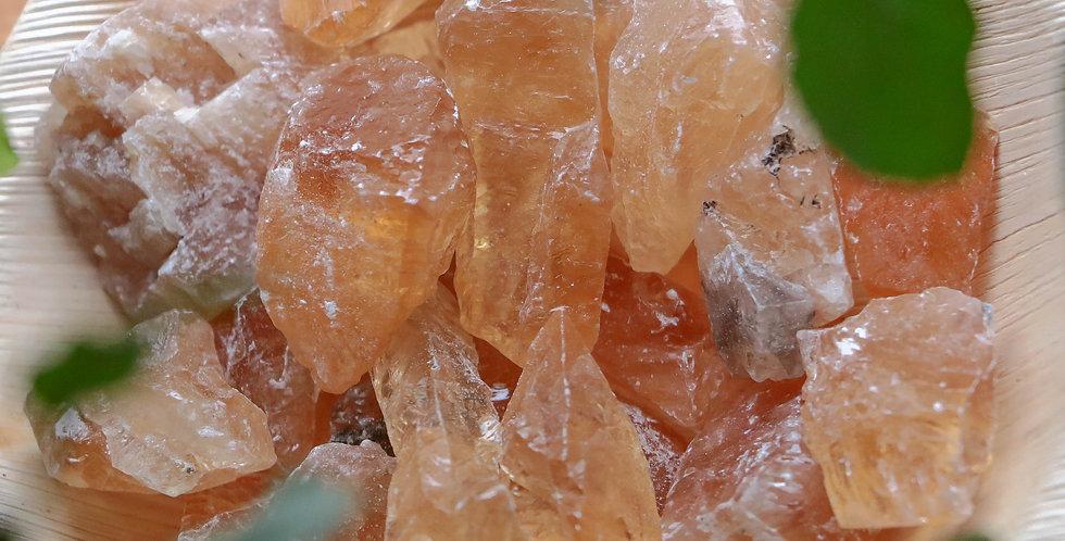 Calcite Mel em Bruto 2 a 4 cm