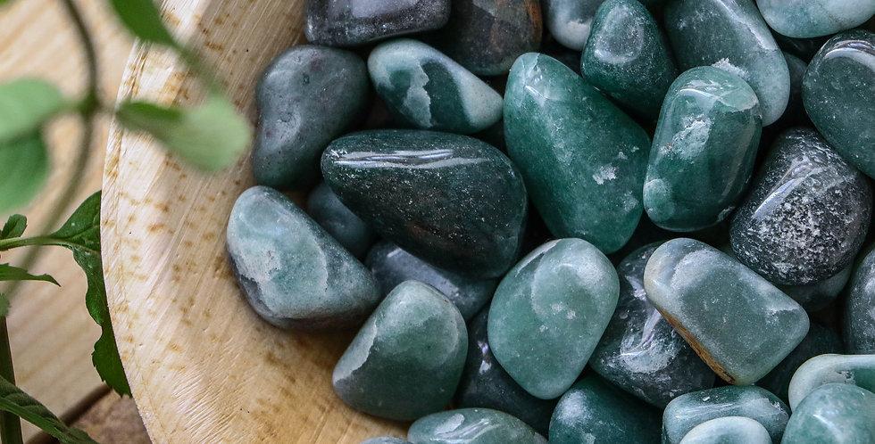Aventurina Verde Rolada 1 a 3 cm