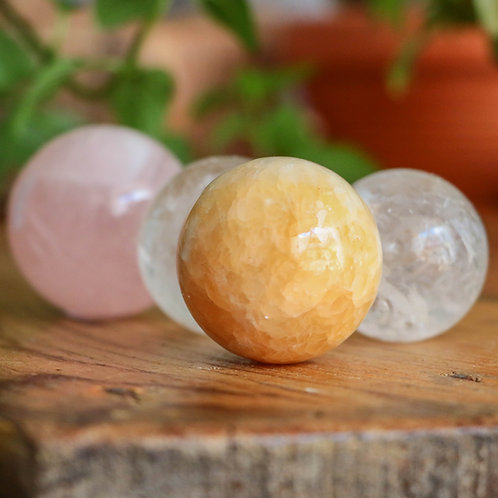Esfera Calcite Amarela