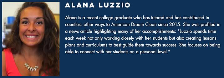Alana Luzzio Summary