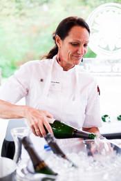 Maureen Holt pouring hospitality