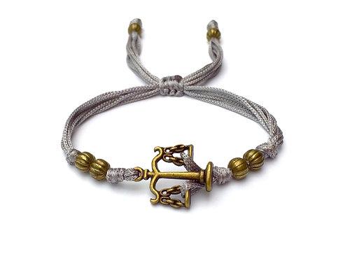 Bracelet personnalisable BALANCE DE LA JUSTICE. BALANCE DE THÉMIS cadeau pour un avocat, école de droit, diplômé, juge