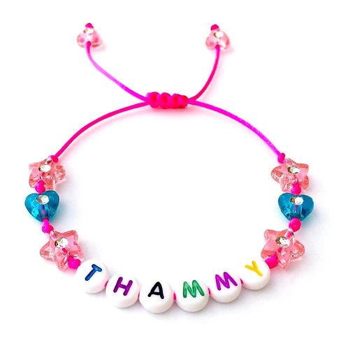 Bracelet THAMMY à personnaliser avec prénom nom texte message logo