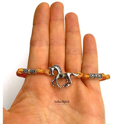 Bracelet CHEVAL. HORSE. MUSTANG. PÉGASE AU GALOP. MORS bijoux équitation homme femme enfant