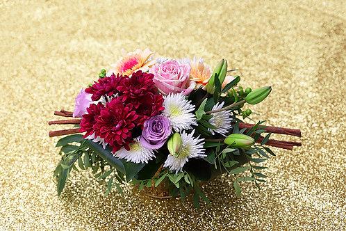 Jolie Composition fleurs vivantes decoration florale fete mariage événement spécial  fleuriste artisanal haute gamme