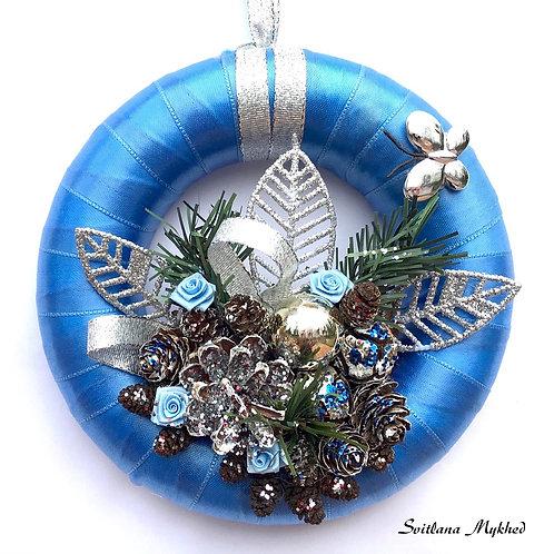Acheter Couronne décorative de l'Avent Noel Papillon Argenté décoration noël fête deco haute gamme artisanal