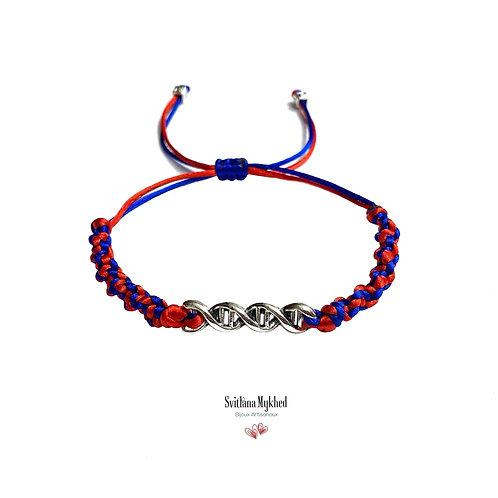 Bracelet homme femme personnalisé ADN spirale chimique moléculaire