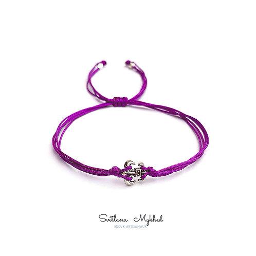 Bracelet personnalisé style médiéval LYS ROYAL FLEUR ROI RENNE QUEEN bjoux fantaisies artisanales Handmade