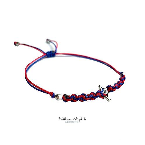 Bracelet tressé personnalisé style égyptien OEIL de PHARAON. EGYPTE. PYRAMIDE. MYSTÈRE Perles tibétaines